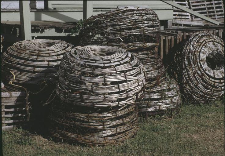 146681PD: Cray pots in Flinders Bay near Augusta, 1993.  http://encore.slwa.wa.gov.au/iii/encore/record/C__Rb4257524__SCray%20fishing%20--%20Western%20Australia%20__P0%2C1__Orightresult__U__X3?lang=eng&suite=def