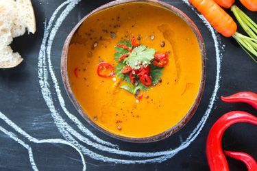 Cosset's spiced carrot and coconut soup
