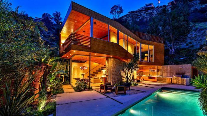 Splendide maison bois mise en vente sur les collines d'Hollywood, Wood-Clad-Home par Space International - Los Angeles, Etats-Unis #construiretendance