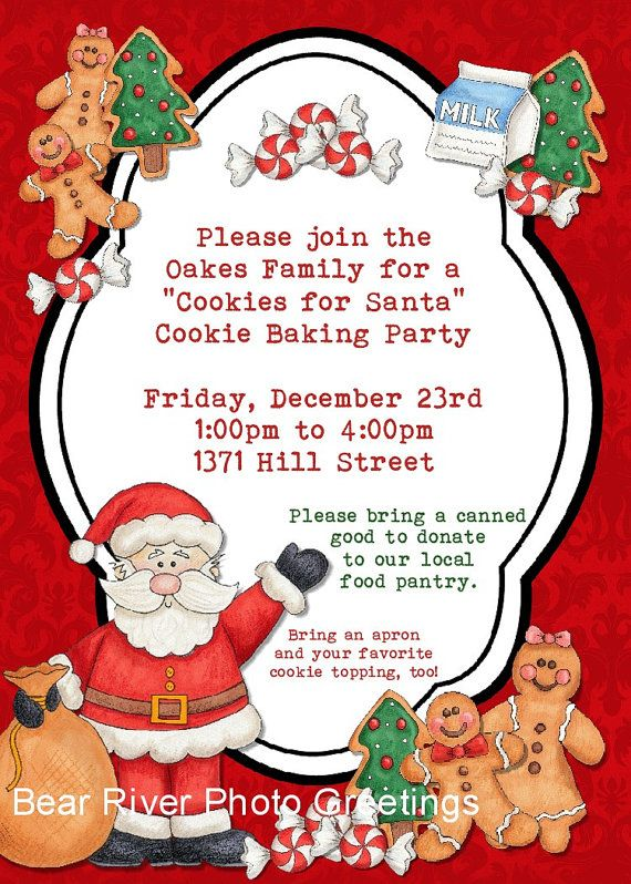 15 best Cookies for Santa images on Pinterest Biscotti, Biscuit - best of sample invitation letter gathering
