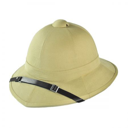The style is reminiscent of a classic fireman's helmet. The helmet was named after M/Gen. Sir Garnet Wolseley, who developed the original pattern. We have seen many variations on the name...Wolsey, Wo