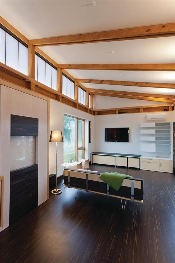 Butterfly Roof Exposed Beams