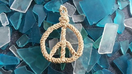 Small Peace Sign Boho Peace Symbol Hippie Love by RopeworkbyDennis