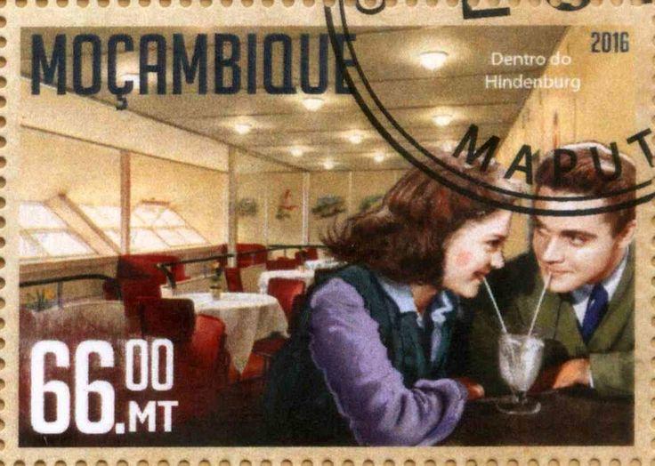 Stamp: LZ129 Hindenburg (Mozambique) Yt:MZ 7003
