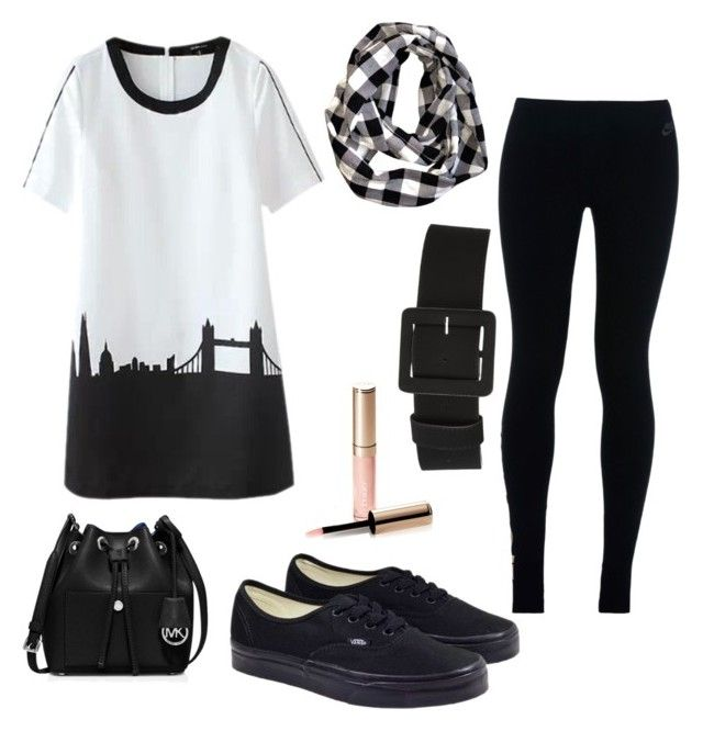 """""""Skyline dress"""" by mack-et-la-mode ❤ liked on Polyvore featuring Vans, NIKE, MICHAEL Michael Kors and By Terry"""