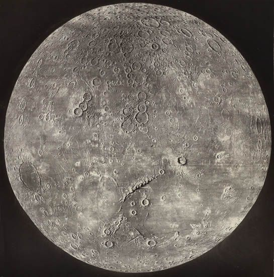 James Nasmyth - The Moon (woodburytype print)