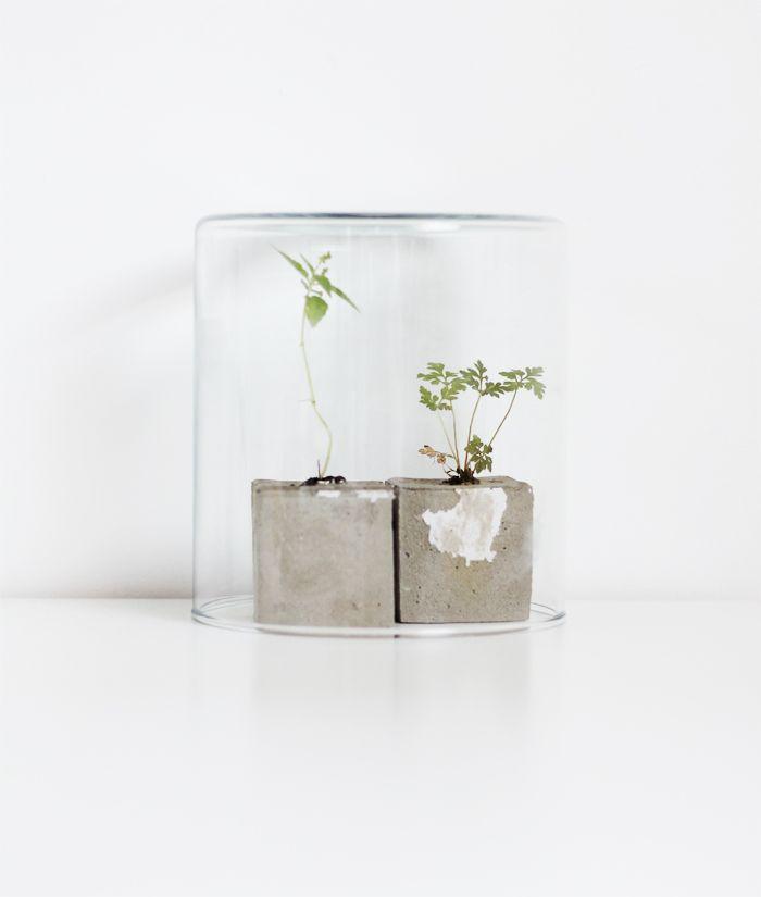 DIY mini concrete pot