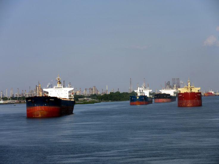 SHIPS AT ANCHOR.