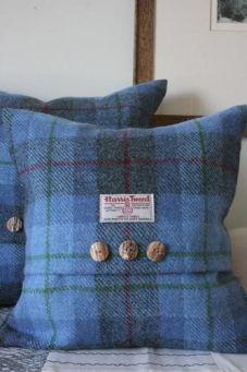 Bluebell Harris Tweed Cushion