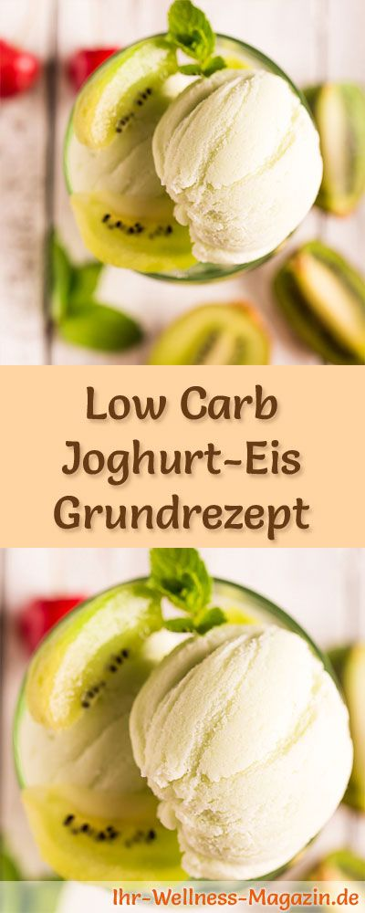 Grundrezept um Low Carb Joghurt-Eis selber zu machen - ein einfaches Eisrezept für kalorienreduzierte, kohlenhydratarme und gesunde Eiscreme ohne Zusatz von Zucker ... (Vegan Sweets Snacks)
