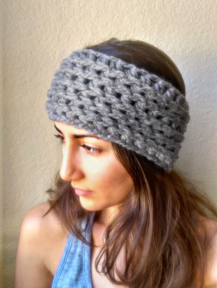 Beginner Ear Warmer Knitting Pattern : Chunky Crochet Ear Warmer Pattern, Ear Warmer Crochet ...