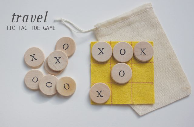 diy travel tic tac toe game for kids