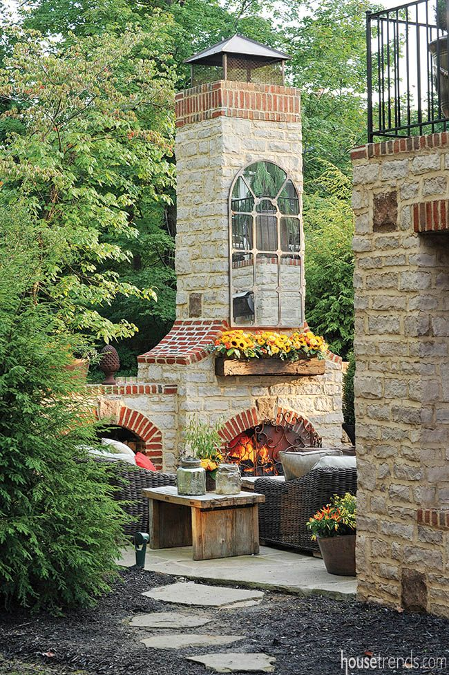 Landscape design has all of the necessities for entertaining