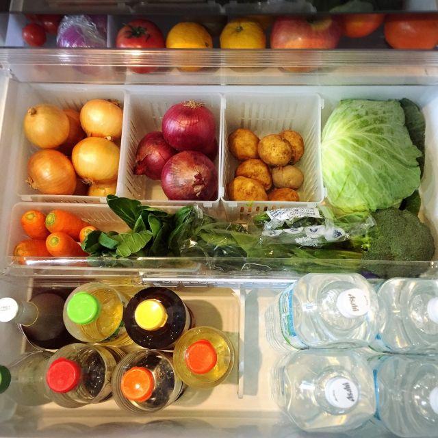 meguri.kさんの、キッチン,冷蔵庫,収納,100均,キャンドゥ,のお部屋写真