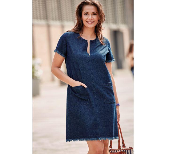 Džínové šaty s třepením | modino.cz #ModinoCZ #modino_cz #modino_style #style #fashion #dress #bellisima