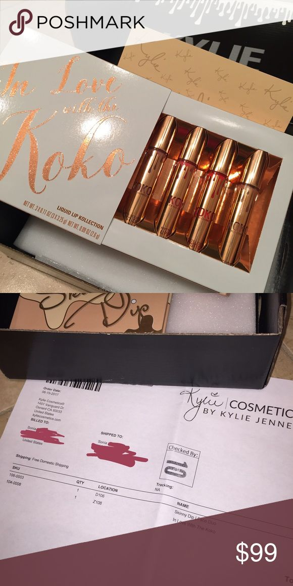 POST COMING SOON - Kylie koko lip kit Brand new unused in love with the look lip set, selling individual shades, will post soon Kylie Cosmetics Makeup Lipstick