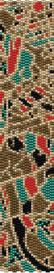 Aqua Beige 2 Drop Peyote Bracelet Pattern by GoldenValleyCraft