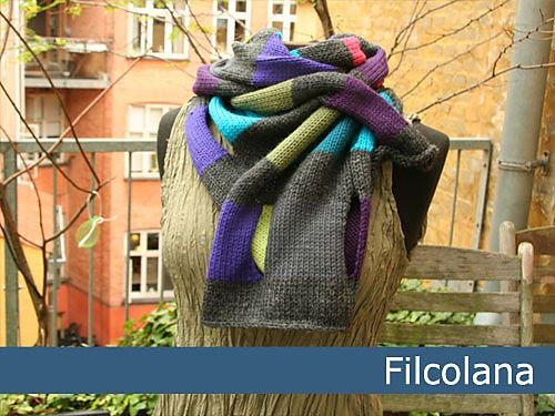 A gorgeous colorful and fun scarf, which can be worn both in many different…