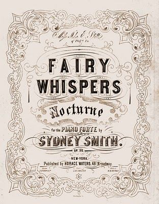 Vintage Clip Art - Fairy Sheet Music - The Graphics Fairy