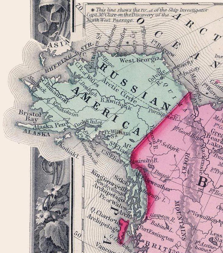 Russian America in 1860.