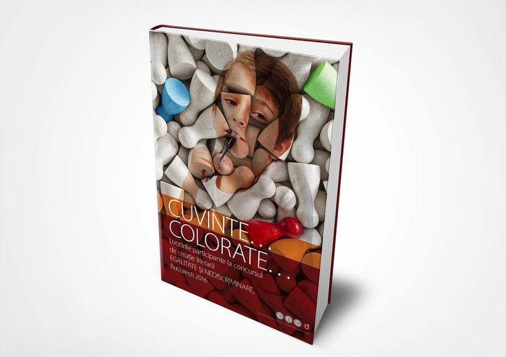 """Design grafic copertă și tehnoredactare interior """"Cuvinte colorate"""" - culegere de eseuri CNCD"""