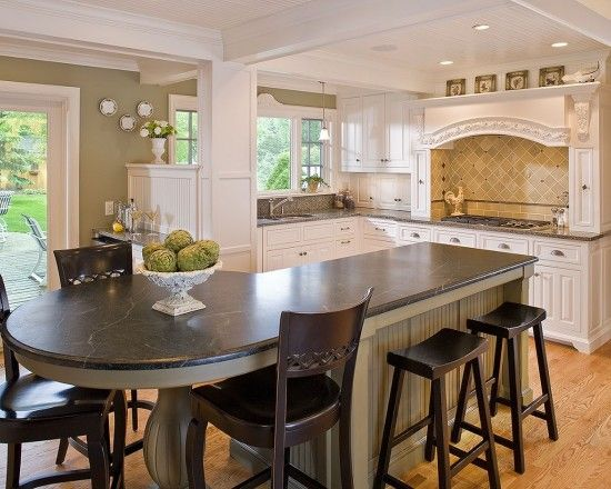Kitchen island with oven round table and chairs page 7 kitchen pinterest kitchen for Round kitchen island designs