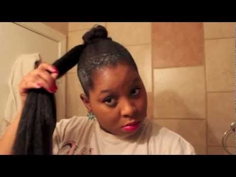 How to apply a Bun with Jumbo Braiding Hair. Inspiring a crazy idea on how to make a huge, messy one.