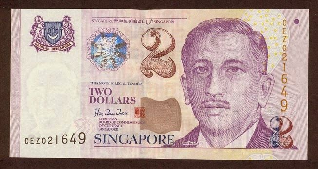 Singapore banknotes 2 Dollars banknote Portrait Series (1999–present). Singapore dollar, Singapore banknotes, Singapore paper money, Singapore bank notes, Singapore dollar bills - world banknotes money currency pictures gallery.