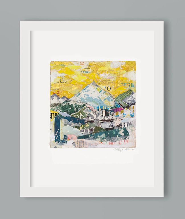 """MOUNTAIN WITH GOLDEN SKY"" // NEW ART PRINT AVAILABLE // A3 or A4 // small edition from the original artwork by ©philippe patricio // all rights reserved //"