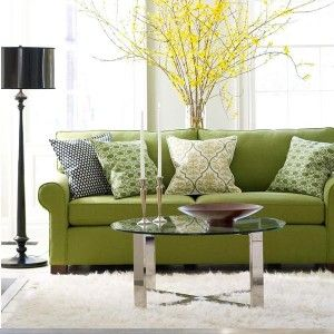 Charming Lime Green - Interior Color Trend 2013 For Cozy Living Room