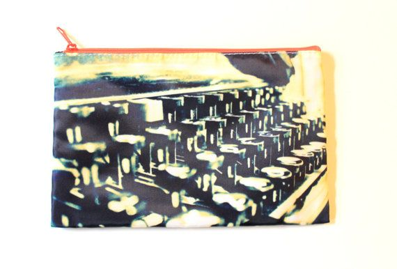 Pencil Case/Makeup Bag Hipster Typewriter by CandyMountainPhotos, €10.00