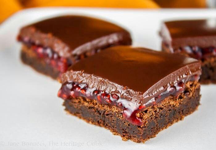 Chocolate-Raspberry Mini Brownies Recipe — Dishmaps