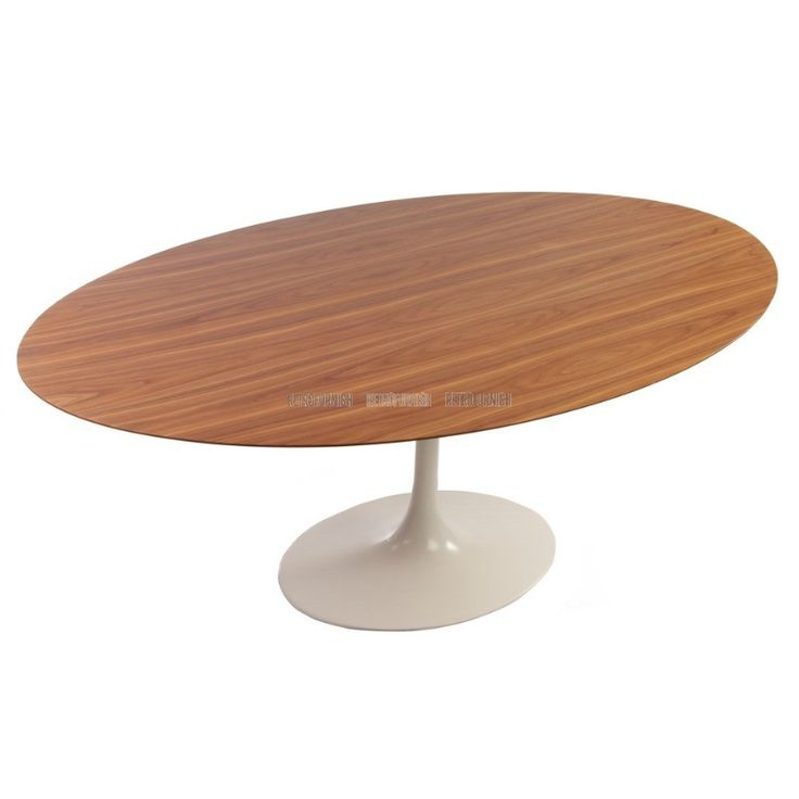 Oval Wood Tulip Table geinspireerd door Eero Saarinen - Replica design meubelen