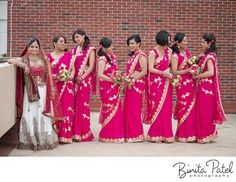 #BridesMaids #bridesmaidsdresses #Beautiful #Bollywood #Style #Indian #wedding #bride #marriage #shadi #india #RED #dulhan #white