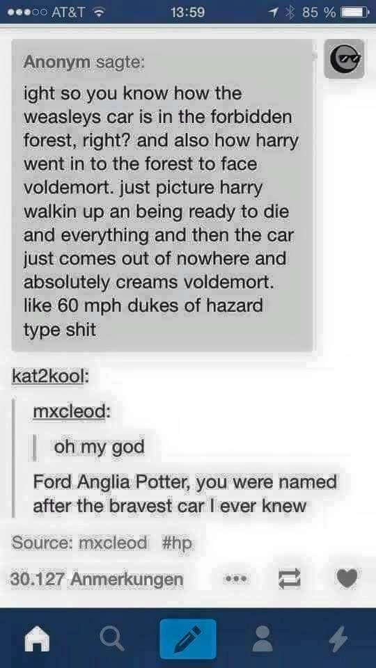 Ford Anglia Potter.