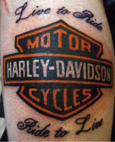 Biker & Harley Davidson Tattoos | I Love Harley Davidson Bikes