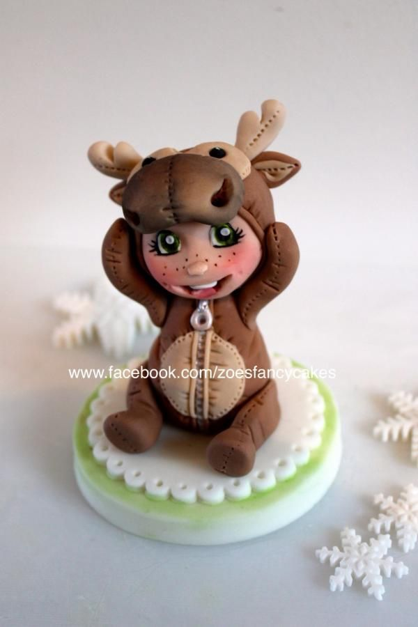 Christmas cake topper  - Cake by Zoe's Fancy Cakes