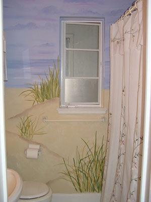 Coastal Beach Theme Bathroom Decor Pinterest