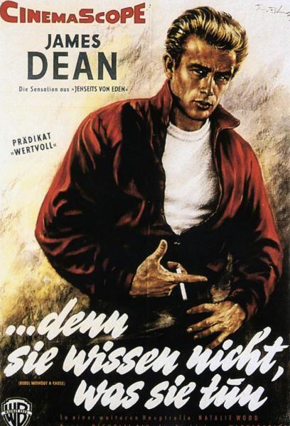 Filmplakat. Mehr zum 60. Todestag von James Dean auf: http://www.nachrichten.at/nachrichten/150jahre/ooenachrichten/Sein-Tod-war-die-Geburt-einer-Legende;art171762,1986639  (Bild: OÖN-Archiv)
