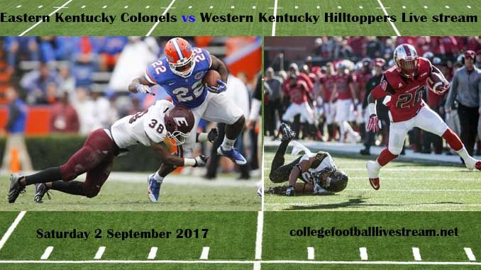 Eastern Kentucky Colonels vs Western Kentucky Hilltoppers Live stream  Teams: Colonels vs Hilltoppers Time: TDA Date: Saturday, 2 September 2017 Location: L.T. Smith Stadium, bowling green TV: ESPN NETWORK Watch College Football Live Streaming Online Eastern Kentucky Colonels is an...