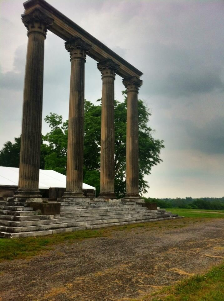 Elmendorf Farm columns all that remains