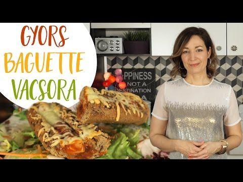 Gyors Vacsora Recept : Baguette Melegszendvics | CSORBA ANITA - YouTube