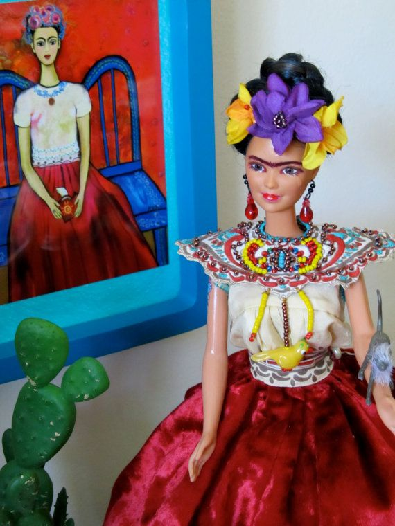 My Weeping Magdalena Doll, From My Frida Doll Collection In Memory of Frida Kahlo Mexican Artist In The Surrealism And Magic Movements on Etsy, $230.00