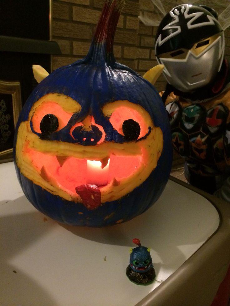 Skylanders wrecking ball pumpkin carving pumpkins