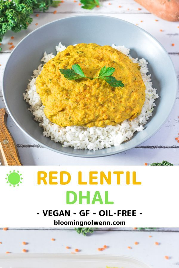 Coconut Curry Lentil Dhal Gluten Free Oil Free Recipe Vegan