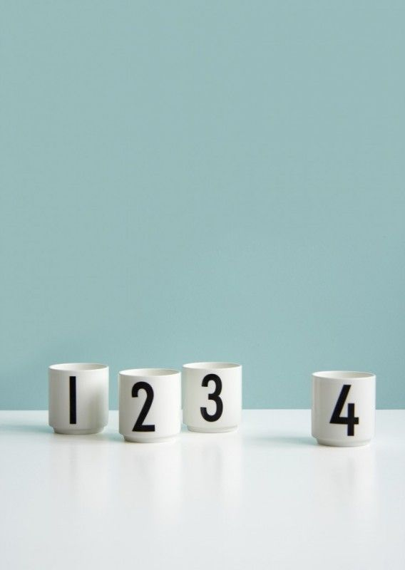 these also make great candle holders for christmas period!!! Set of 4 espresso cups by Design Letters, typography by Arne Jacobsen