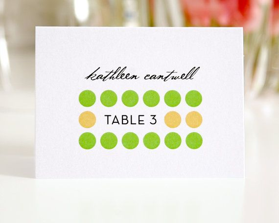 Mod Place Cards or Seating Cards for Your Wedding, Modern Circles Design Deposit