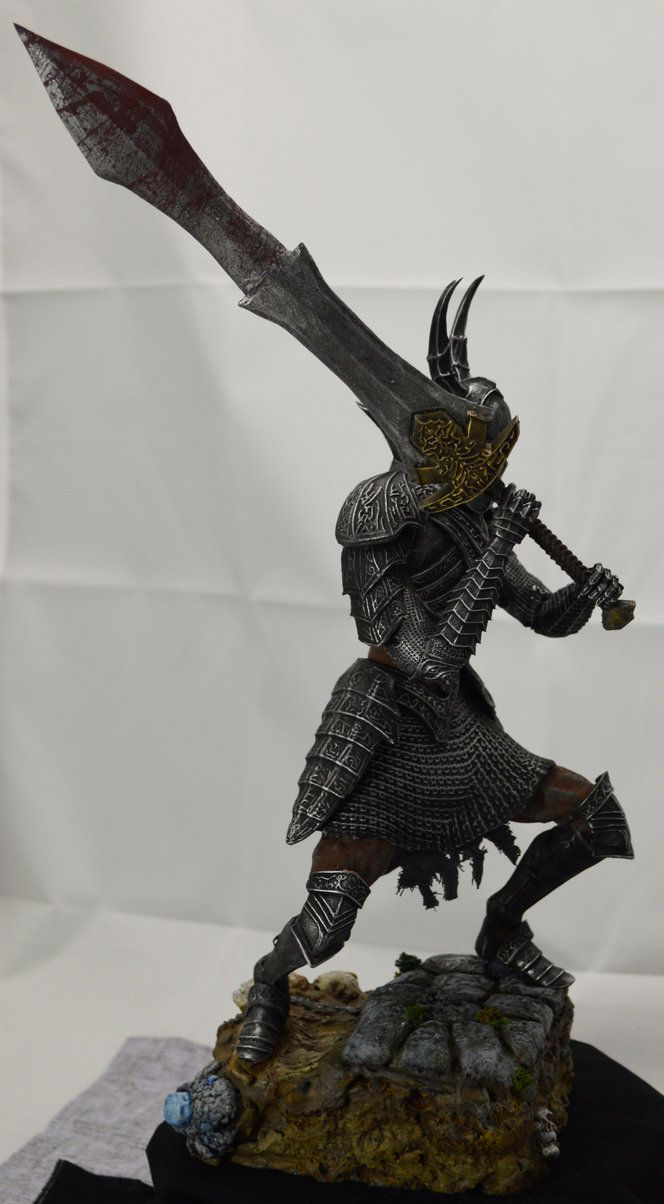 Dark Souls Black Knight Collectable side view by MichaelEastwood.deviantart.com on @DeviantArt