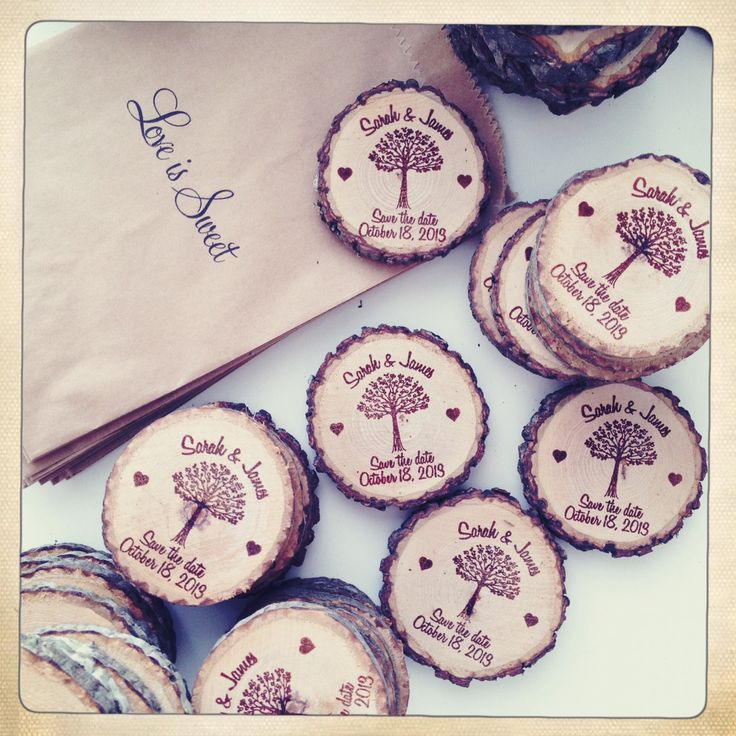 50 Custom Save The Date/Wedding Favor Wood by RedCloudBoutique, $95.00