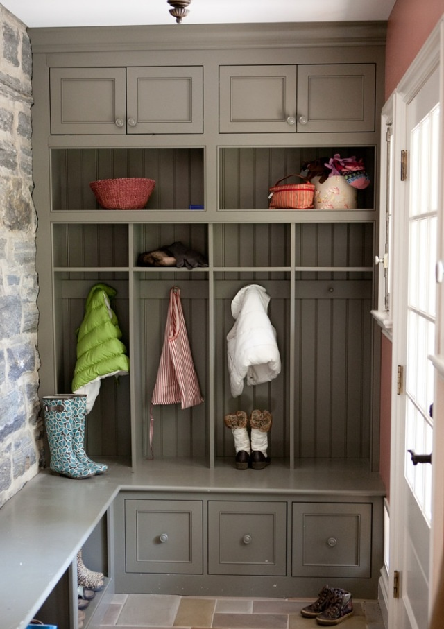 Lockers And Cubbies For A Back Door Mud Room Entry Way